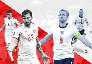 Anh vs ĐaN Mạch - Bán kết EURO -  Penalty gây tranh cãi
